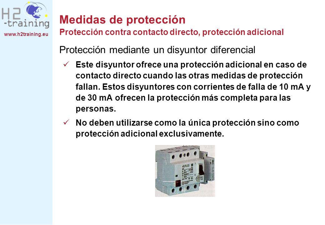 www.h2training.eu Protección mediante un disyuntor diferencial Este disyuntor ofrece una protección adicional en caso de contacto directo cuando las o