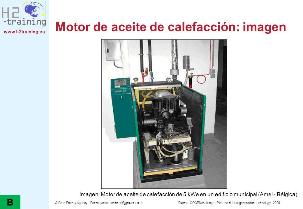 www.h2training.eu © Graz Energy Agency - For requests: schinnerl@grazer-ea.at Motor de aceite de calefacción: imagen Fuente: COGENchallenge: Pick the