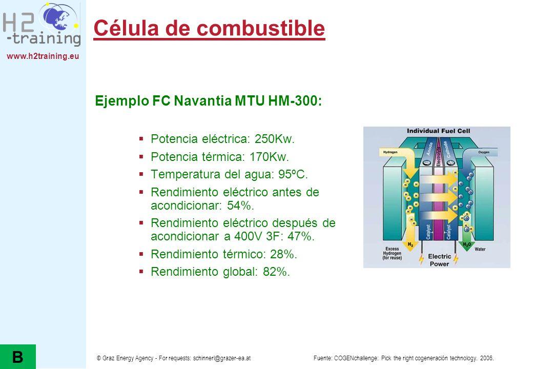 www.h2training.eu © Graz Energy Agency - For requests: schinnerl@grazer-ea.at Célula de combustible Ejemplo FC Navantia MTU HM-300: Potencia eléctrica