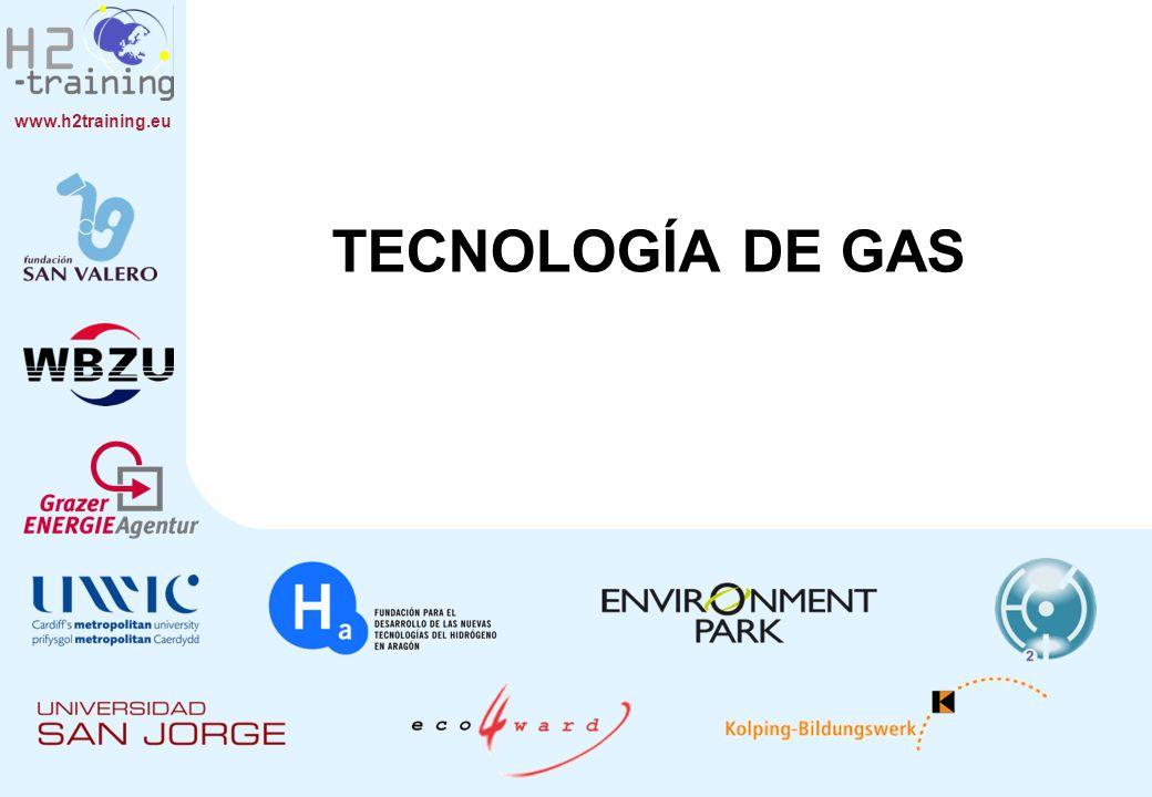 www.h2training.eu CONTENIDOS 1.El manejo de gas comprimido y gas líquido frío.