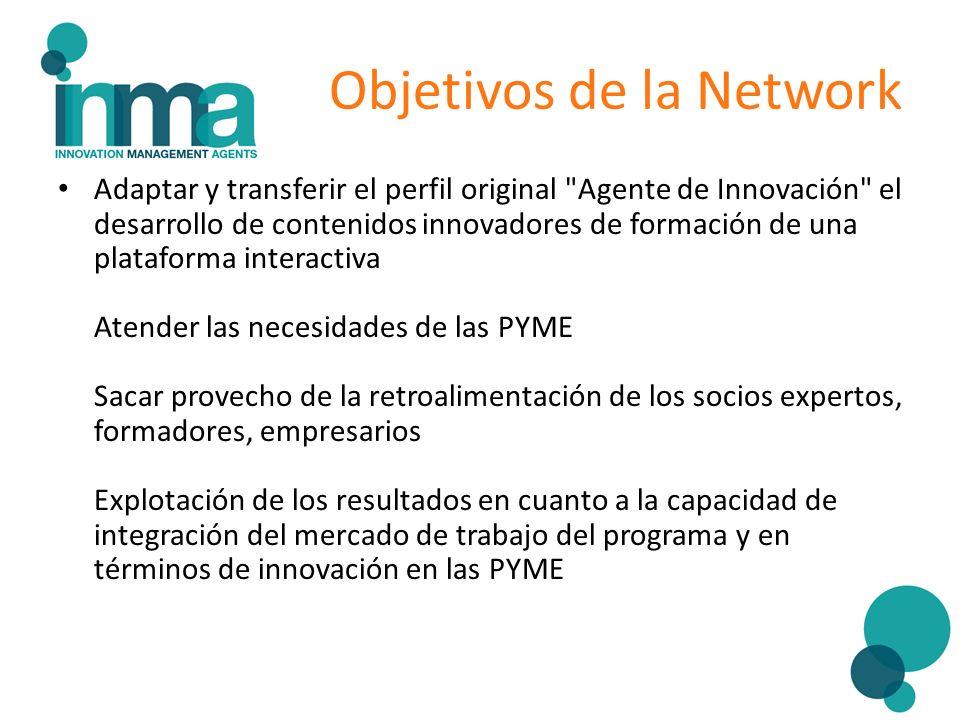Objetivos de la Network Adaptar y transferir el perfil original