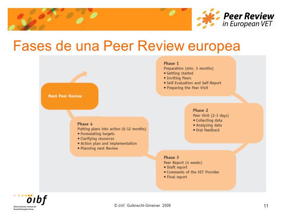 11 © öibf, Gutknecht-Gmeiner 2008 Fases de una Peer Review europea