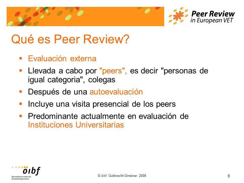6 © öibf, Gutknecht-Gmeiner 2008 Qué es Peer Review.
