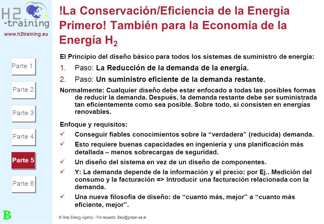 www.h2training.eu © Graz Energy Agency - For requests: Bleyl@grazer-ea.at !La Conservación/Eficiencia de la Energía Primero! También para la Economía