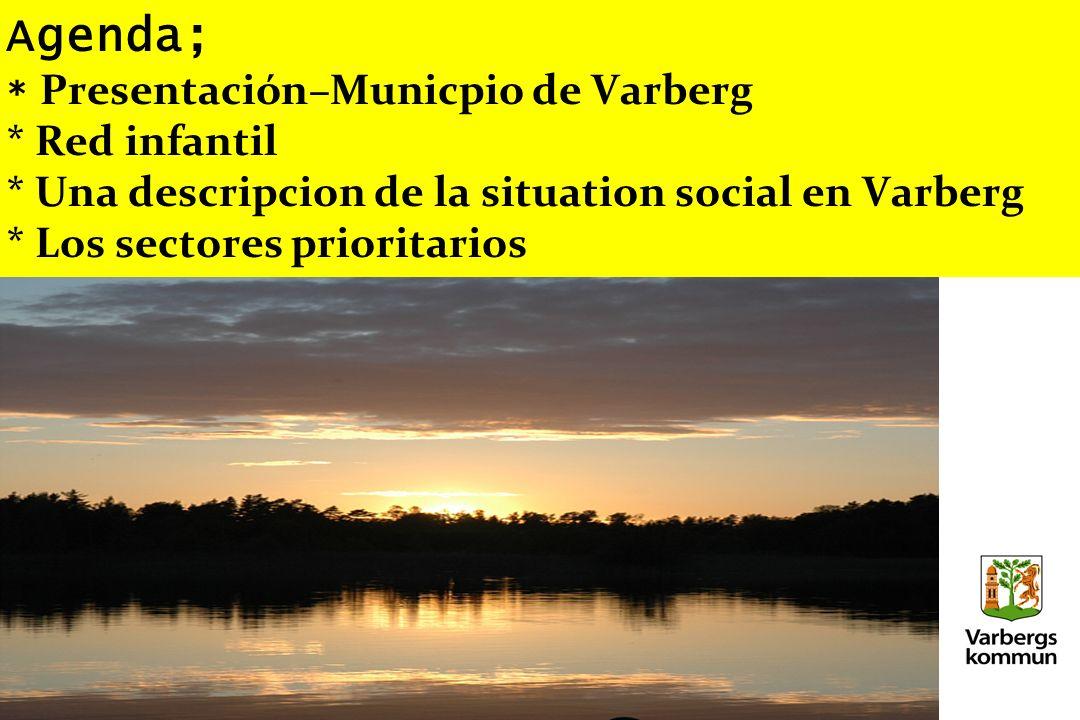 Agenda; * Presentación–Municpio de Varberg * Red infantil * Una descripcion de la situation social en Varberg * Los sectores prioritarios
