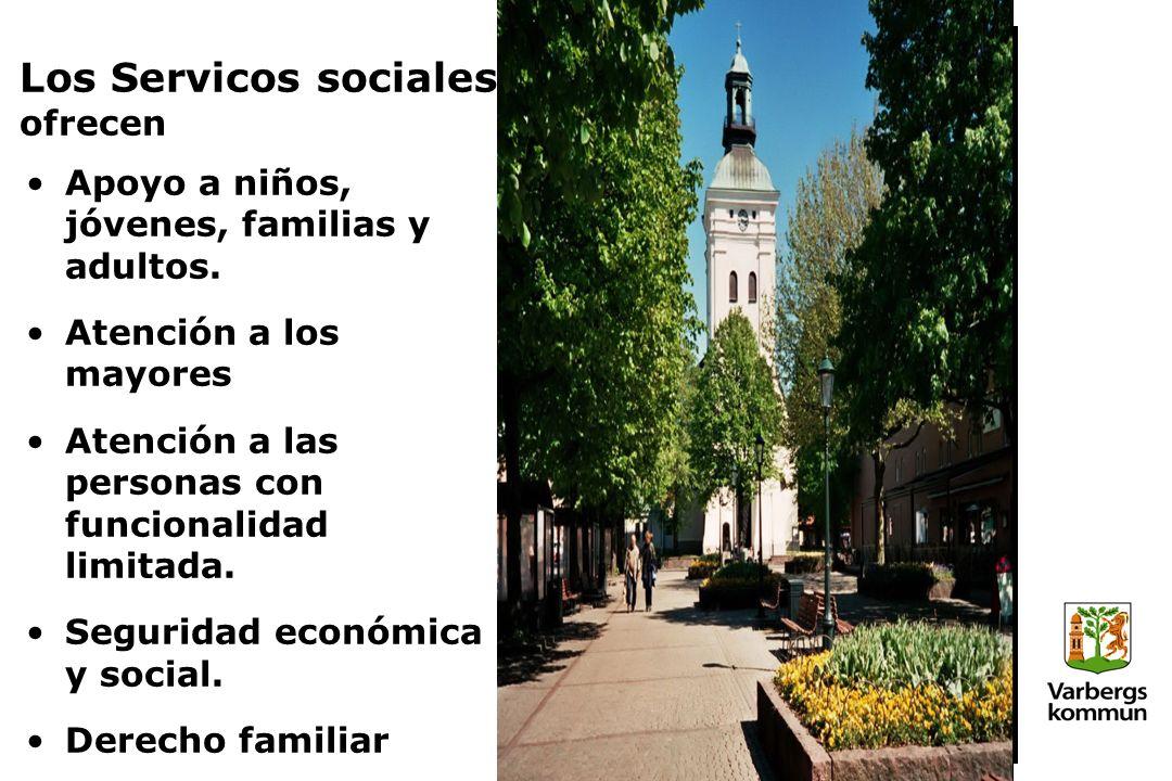 Los Servicos sociales ofrecen Apoyo a niños, jóvenes, familias y adultos.