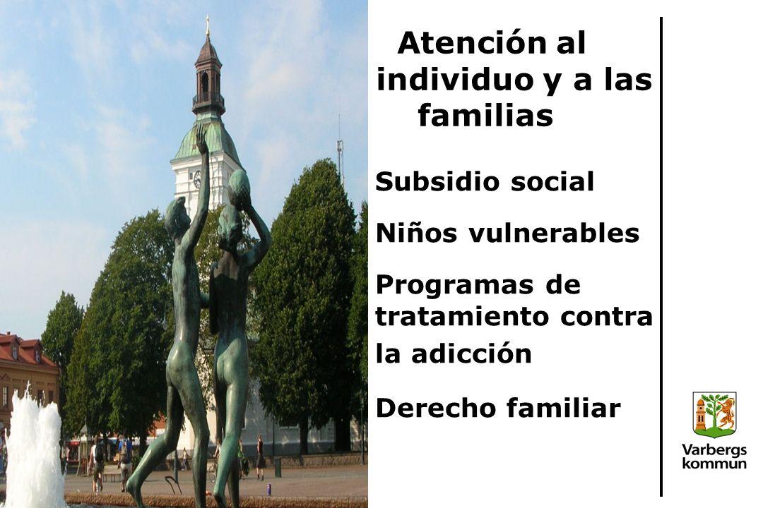 Atención al individuo y a las familias Subsidio social Niños vulnerables Programas de tratamiento contra la adicción Derecho familiar
