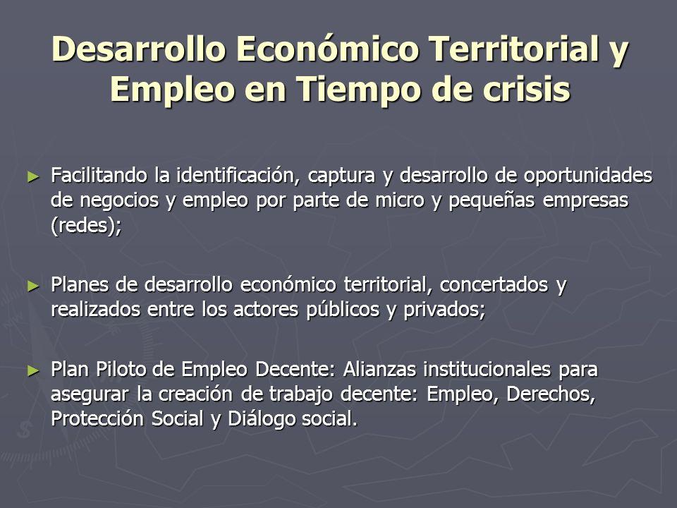 Desarrollo Económico Territorial y Empleo en Tiempo de crisis Facilitando la identificación, captura y desarrollo de oportunidades de negocios y emple