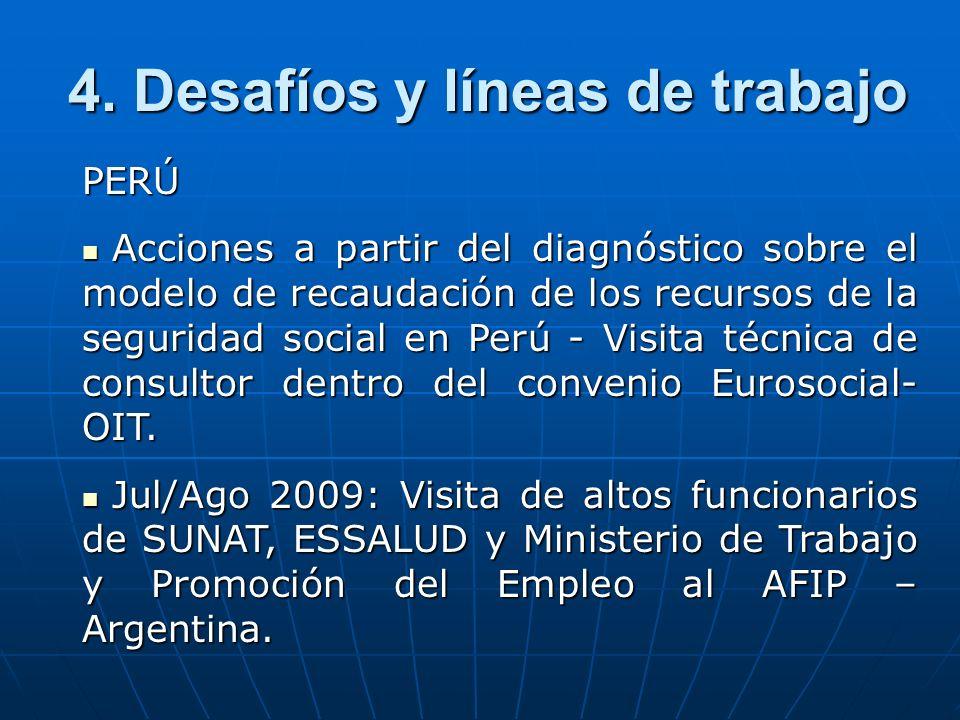 PERÚ Acciones a partir del diagnóstico sobre el modelo de recaudación de los recursos de la seguridad social en Perú - Visita técnica de consultor dentro del convenio Eurosocial- OIT.