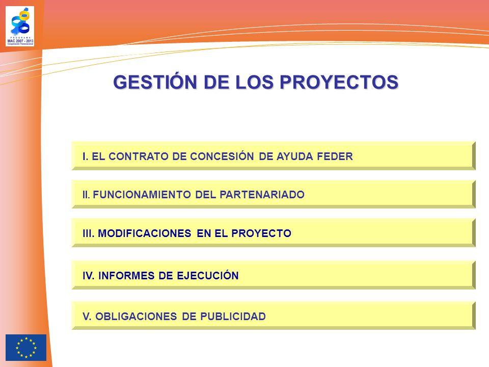 I.EL CONTRATO DE CONCESIÓN DE AYUDA FEDER.