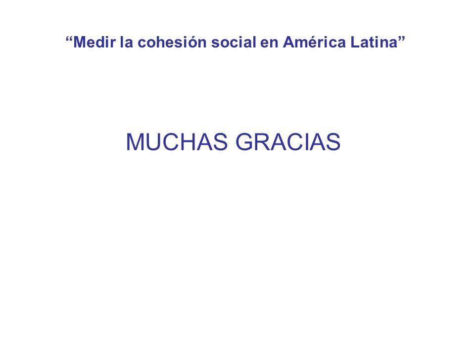 Medir la cohesión social en América Latina MUCHAS GRACIAS