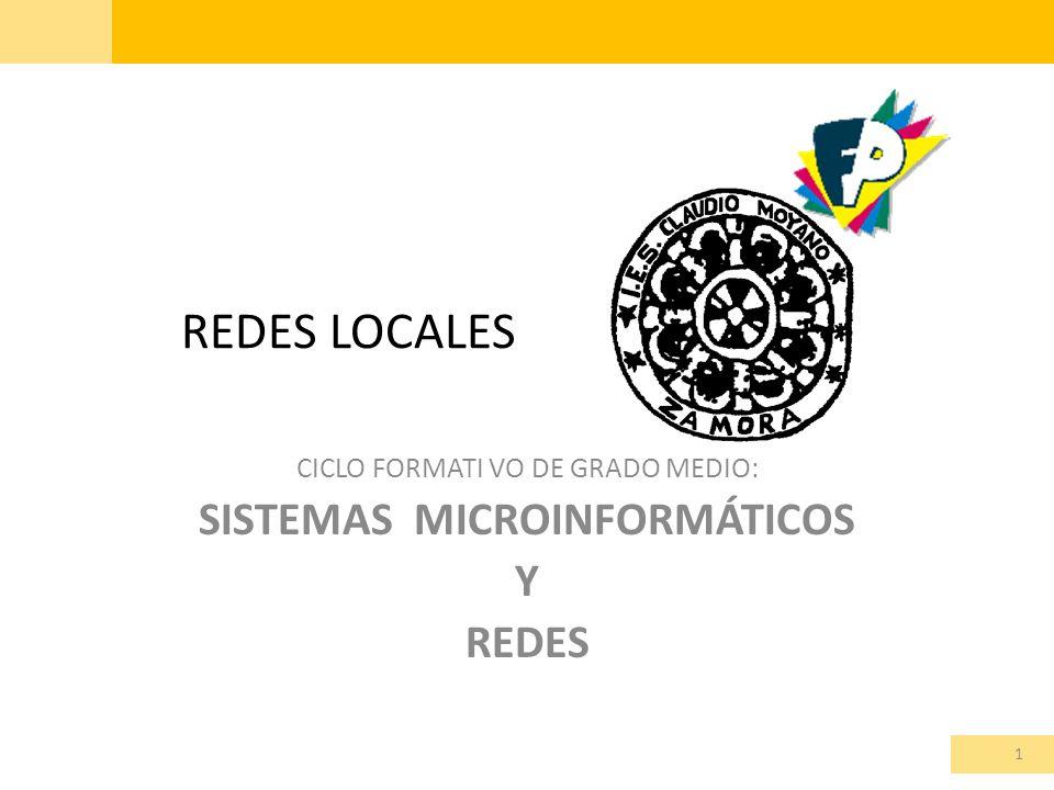 REDES LOCALES CICLO FORMATI VO DE GRADO MEDIO: SISTEMAS MICROINFORMÁTICOS Y REDES 1