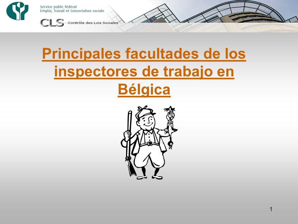 1 Principales facultades de los inspectores de trabajo en Bélgica