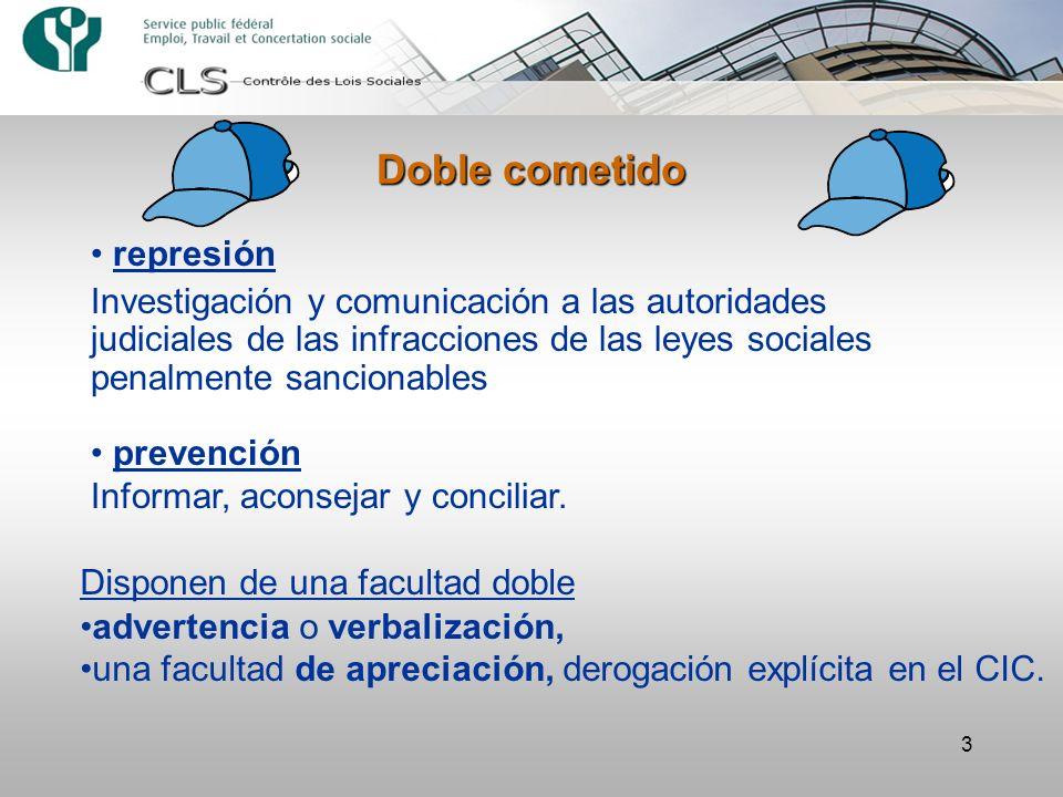 3 Doble cometido represión Investigación y comunicación a las autoridades judiciales de las infracciones de las leyes sociales penalmente sancionables