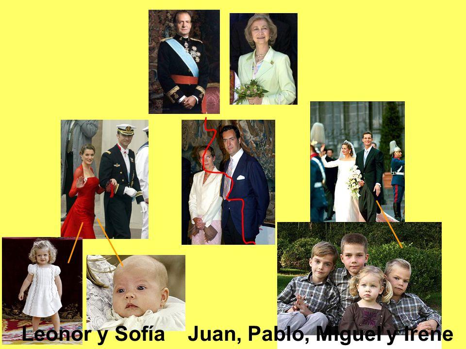 Leonor y Sofía Juan, Pablo, Miguel y Irene
