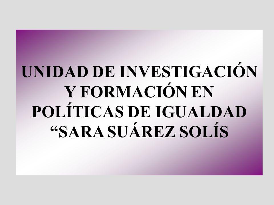 UNIDAD DE INVESTIGACIÓN Y FORMACIÓN EN POLÍTICAS DE IGUALDAD SARA SUÁREZ SOLÍS