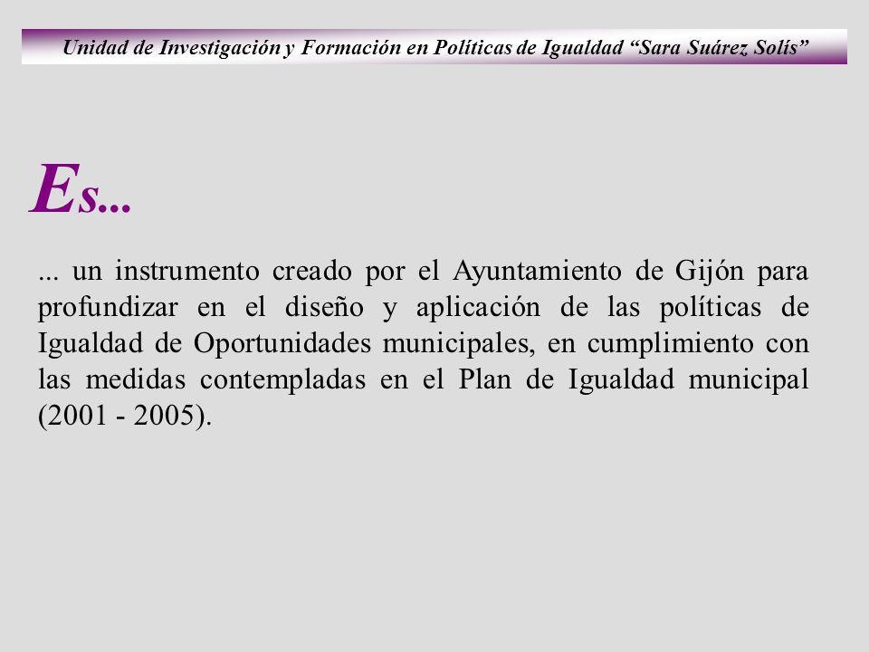... un instrumento creado por el Ayuntamiento de Gijón para profundizar en el diseño y aplicación de las políticas de Igualdad de Oportunidades munici