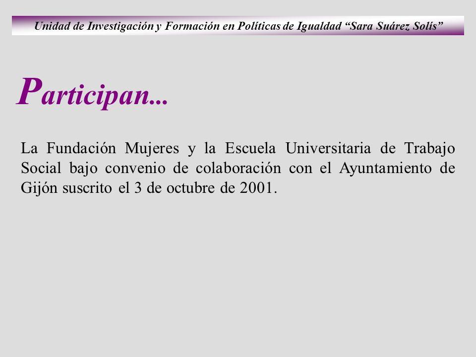 Unidad de Investigación y Formación en Políticas de Igualdad Sara Suárez Solís P articipan...