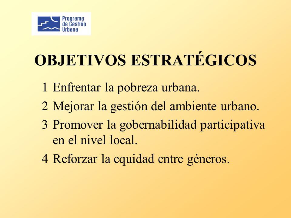 OBJETIVOS ESTRATÉGICOS 1Enfrentar la pobreza urbana.
