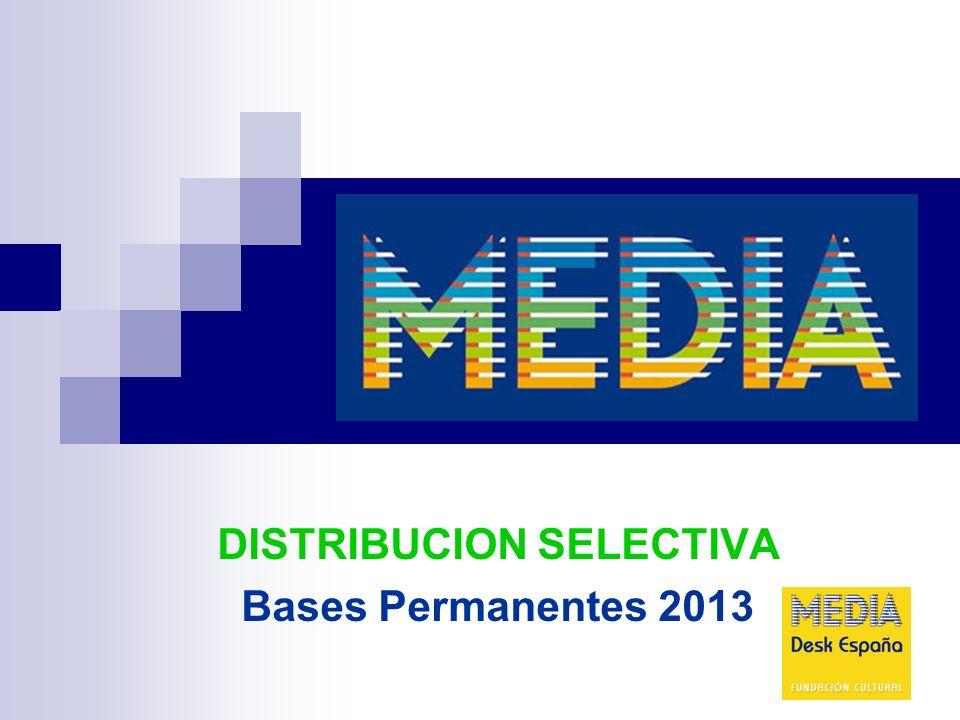 DISTRIBUCION SELECTIVA Bases Permanentes 2013