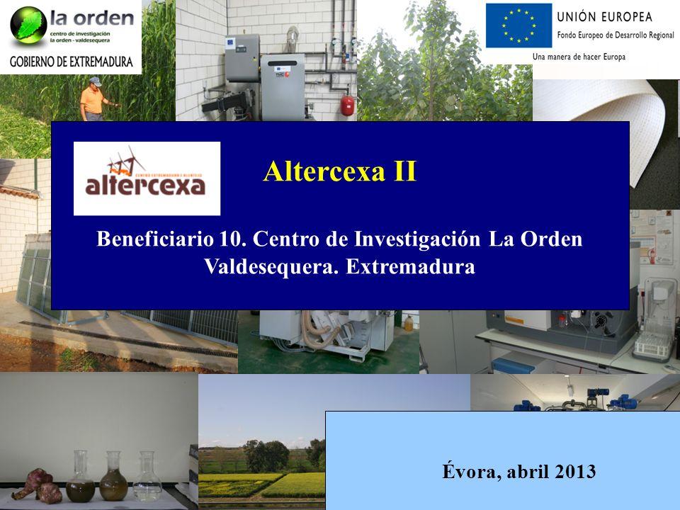 Altercexa II Beneficiario 10. Centro de Investigación La Orden Valdesequera.