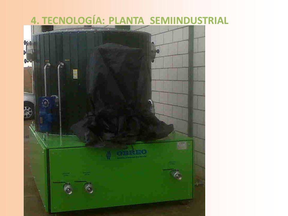 4. TECNOLOGÍA: PLANTA SEMIINDUSTRIAL