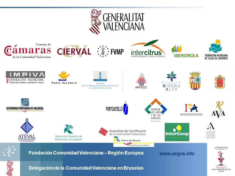Fundación Comunidad Valenciana – Región Europea Delegación de la Comunidad Valenciana en Bruselas www.uegva.info