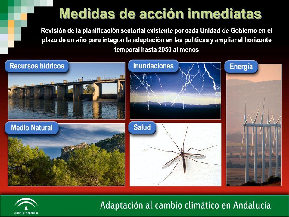 Estudios de base de impactos y medidas de adaptación SECTORES AgriculturaTransportesRecursos hídricosInundaciones TurismoSegurosBiodiversidad Incendios forestales Salud Ordenación del territorio EnergíaSuelo Bosques