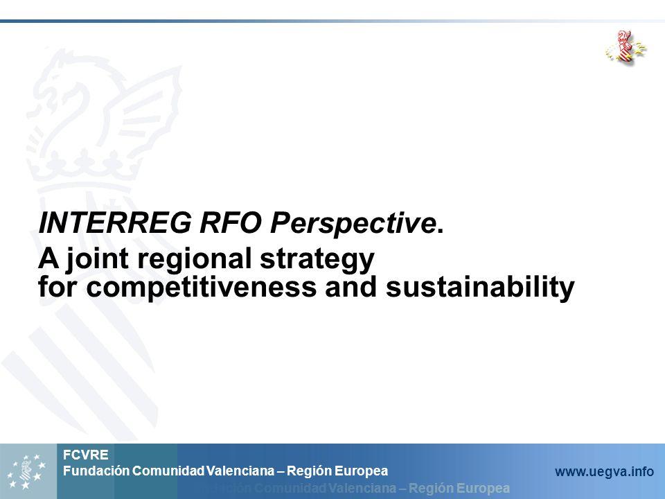 Fundación Comunidad Valenciana – Región Europea FCVRE Fundación Comunidad Valenciana – Región Europea www.uegva.info INTERREG RFO Perspective.