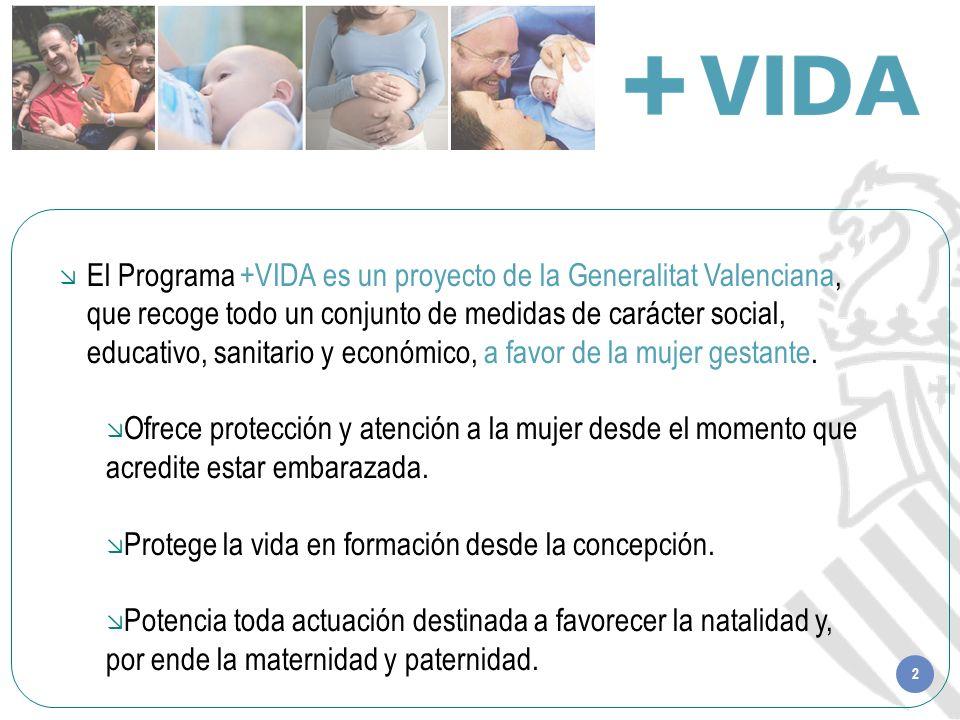 2 El Programa +VIDA es un proyecto de la Generalitat Valenciana, que recoge todo un conjunto de medidas de carácter social, educativo, sanitario y eco