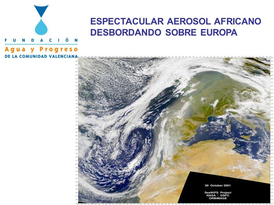 ESPECTACULAR AEROSOL AFRICANO DESBORDANDO SOBRE EUROPA
