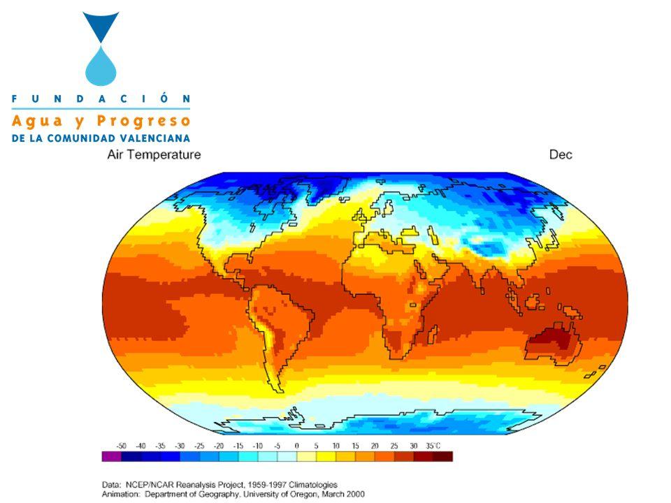 El ascenso hacia el norte de las grandes estructuras atmosféricas, alejaría a la Región Mediterránea de la zona neurálgica donde se gestan las precipitaciones EL SISTEMA CLIMÁTICO