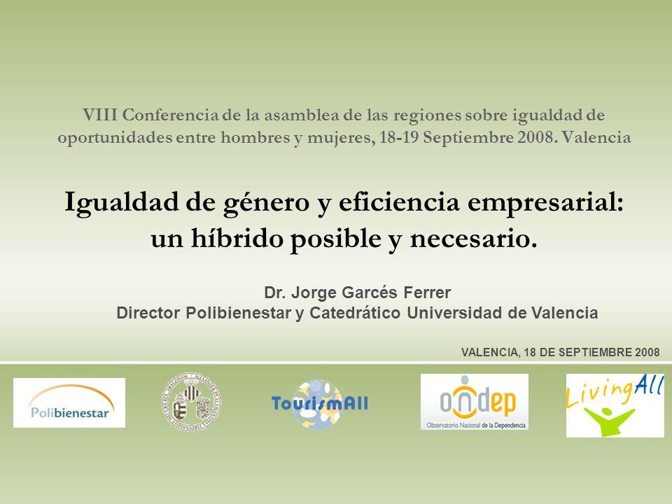 VIII Conferencia de la asamblea de las regiones sobre igualdad de oportunidades entre hombres y mujeres, 18-19 Septiembre 2008.