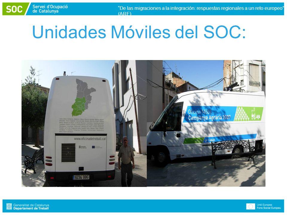 Unidades Móviles del SOC: De las migraciones a la integración: respuestas regionales a un reto europeo (ARE)