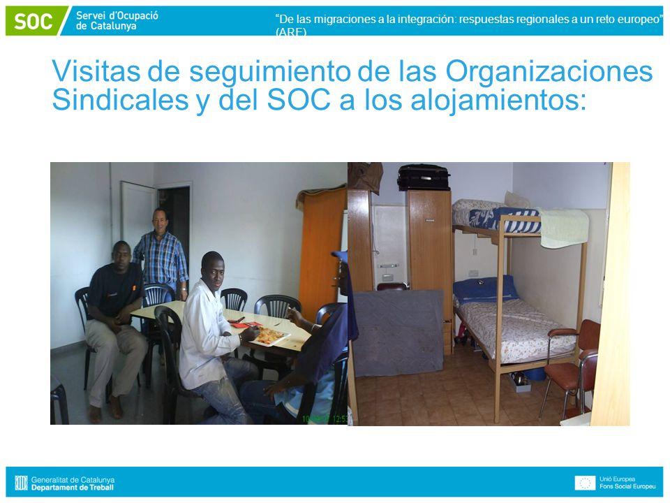 Visitas de seguimiento de las Organizaciones Sindicales y del SOC a los alojamientos: De las migraciones a la integración: respuestas regionales a un reto europeo (ARE)