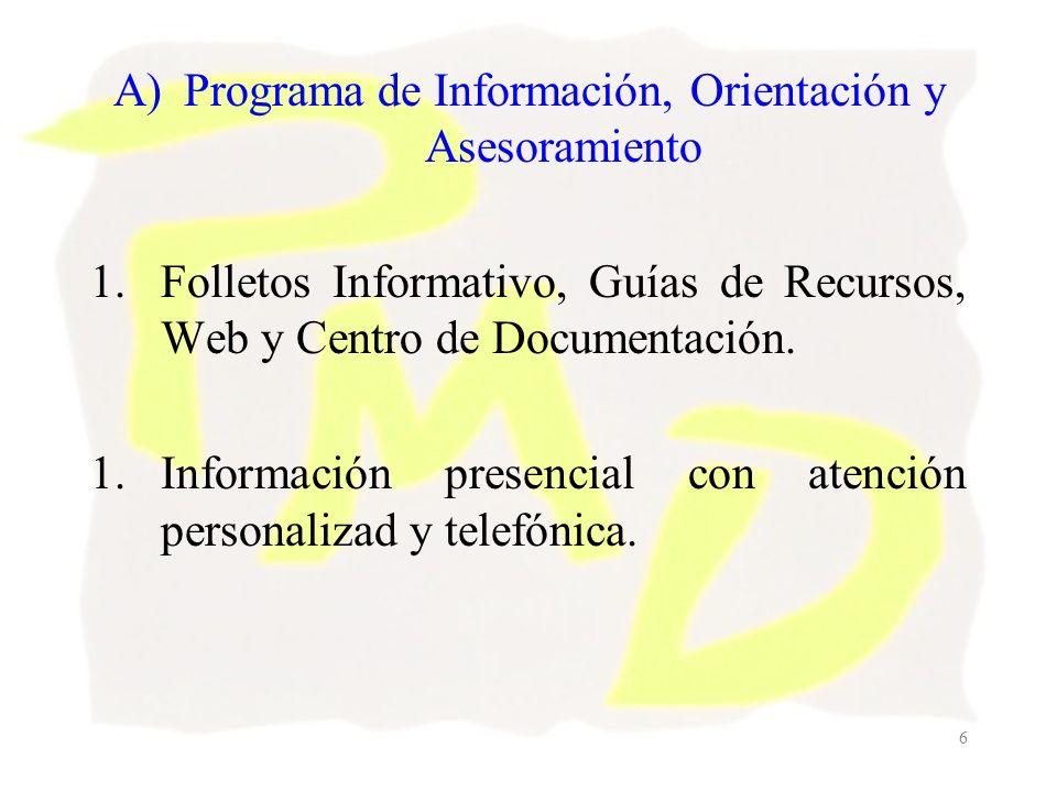 7 B) Programa de Reducción de la Oferta de Alcohol.