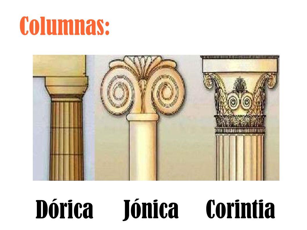 Columnas: Dórica JónicaCorintia