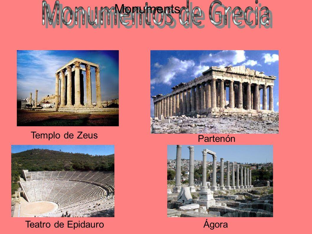 Templo de Zeus Partenón Teatro de EpidauroÁgora Monuments