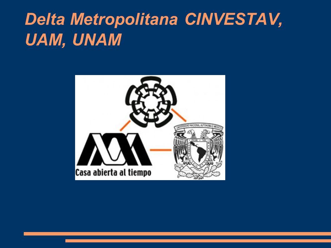 Delta Metropolitana CINVESTAV, UAM, UNAM