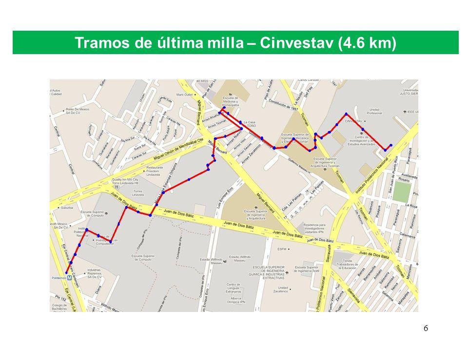 6 Tramos de última milla – Cinvestav (4.6 km)