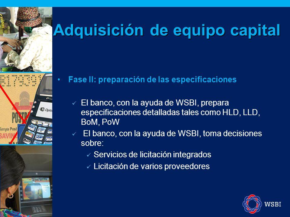 Fase III: licitación Solicitud de cotización (RFQ) Solicitud de ofertas (RFP) El método del proveedor único debe evitarse.