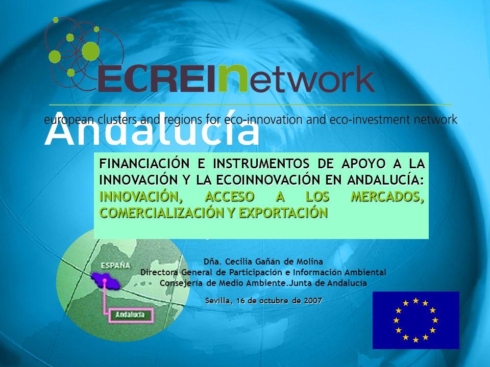 12 FINANCIACIÓN I+D+i EN ANDALUCÍA SÍNTESIS - SÉPTIMO PROGRAMA MARCO DE INVESTIGACIÓN, DEMOSTRACIÓN Y DESARROLLO TECNOLÓGICO 2007-2013 - PROGRAMA MARCO DE INNOVACIÓN Y COMPETITIVIDAD - LIFE+ CONSEJERÍA DE INNOVACIÓN, CIENCIA Y EMPRESA Como organismo competencial encargado de gestionar la política de I+D+I en Andalucía Plan Andaluz de Investigación, Desarrollo e Innovación PAIDI Programa de incentivos para el fomento de la innovación y el desarrollo empresarial en Andalucía MACROORDEN + Subvención global Agencia IDEA INVERCARIA Financiar Red de Espacios Tecnológicos de Andalucía RETA Conectar el sistema TRANSFER Para la transferencia de tecnología NOVAPYME Para introducir las TIC en las empresas Corporación Tecnológica de Andalucía CTA CITANDALUCIA Fomentar la innovación tecnológica + transferencia CICE + Sector privado + Entidades financieras + Tejido científico e investigador: PARTENARIADO PÚBLICO PRIVADO PARA EL DESARROLLO DE PROYECTOS TECNOLÓGICOS EMPRESARIALES RETACONECTAELSISTEMARETACONECTAELSISTEMA ES EL APARATO CIRCULATORIO FONDOS UE AGE JA FONDOS CONCURRENCIA COMPETITIVA -EUROPA PROGRAMAS PO FEDER (Subvención Global) PO Pluriregional (Fondo tecnológico INGENIO 2010 (CENIT+NEOTEC) Plan Nacional I+D (+PROFIT) PAIDI