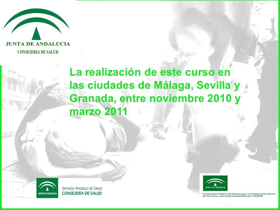 La celebración de una reunión en el segundo trimestre 2011 para elaborar un protocolo de actuación que sirva de referente para todas las ciudades de Andalucía