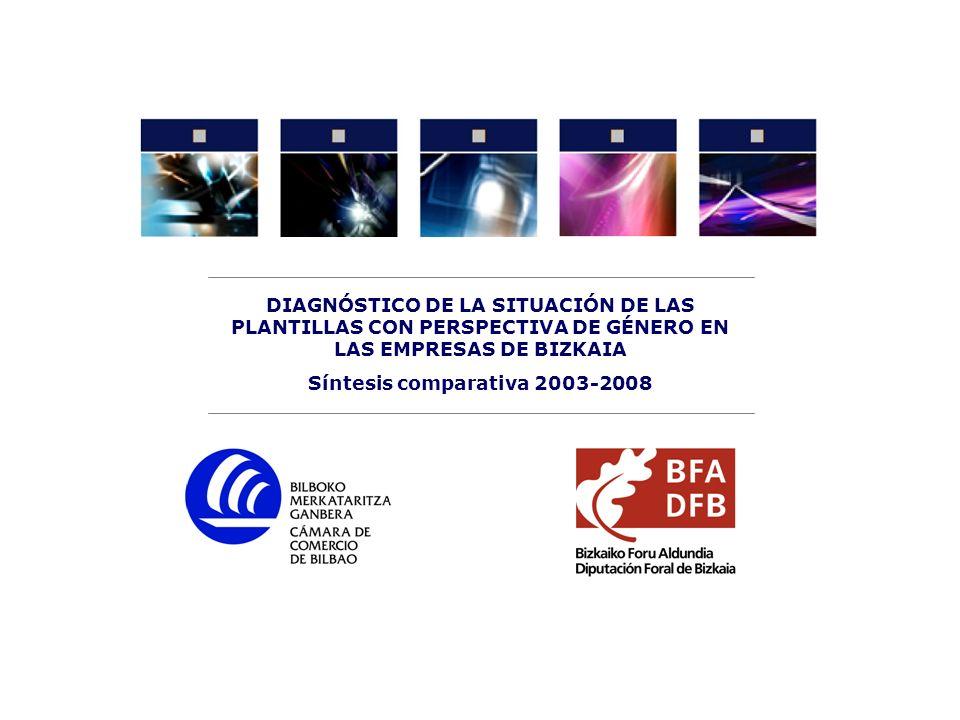 2 Diagnóstico de la situación de las plantillas con perspectiva de género en las empresas de Bizkaia Síntesis cuantitativa comparativa 2003-2008