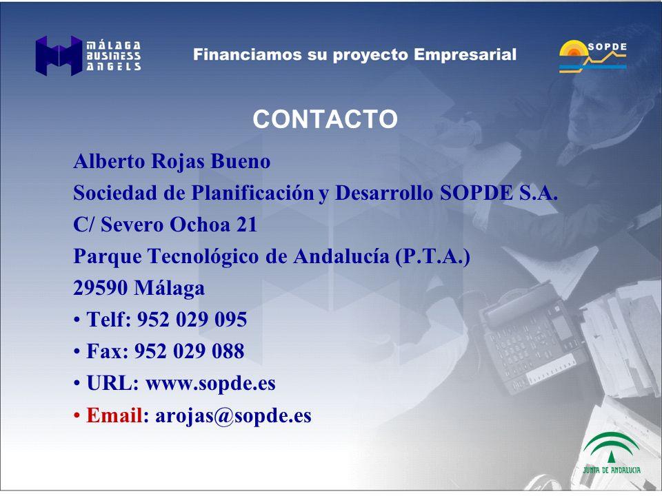CONTACTO Alberto Rojas Bueno Sociedad de Planificación y Desarrollo SOPDE S.A.