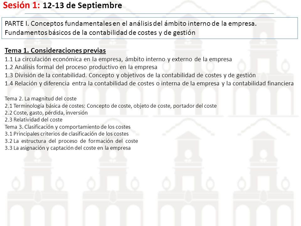Sesión 1: 12-13 de Septiembre Tema 1.