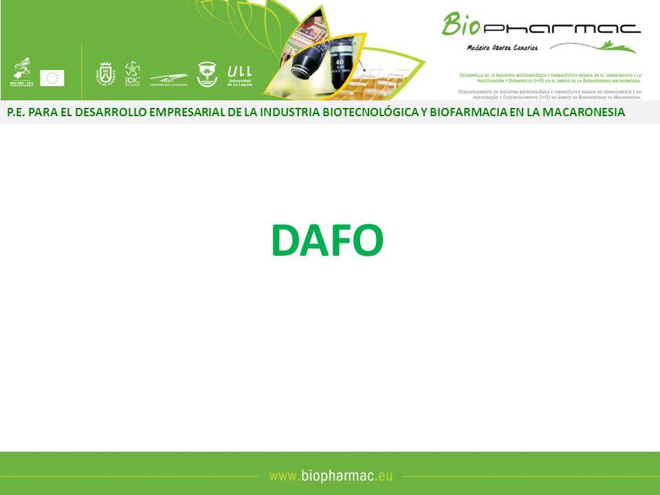 P.E. PARA EL DESARROLLO EMPRESARIAL DE LA INDUSTRIA BIOTECNOLÓGICA Y BIOFARMACIA EN LA MACARONESIA DAFO