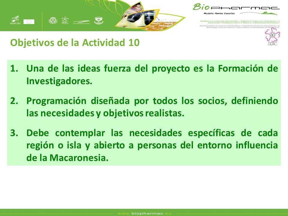 1.Una de las ideas fuerza del proyecto es la Formación de Investigadores.