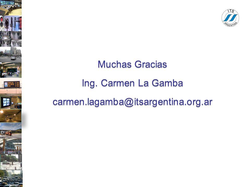 Muchas Gracias Ing. Carmen La Gamba carmen.lagamba@itsargentina.org.ar Muchas Gracias Ing. Carmen La Gamba carmen.lagamba@itsargentina.org.ar
