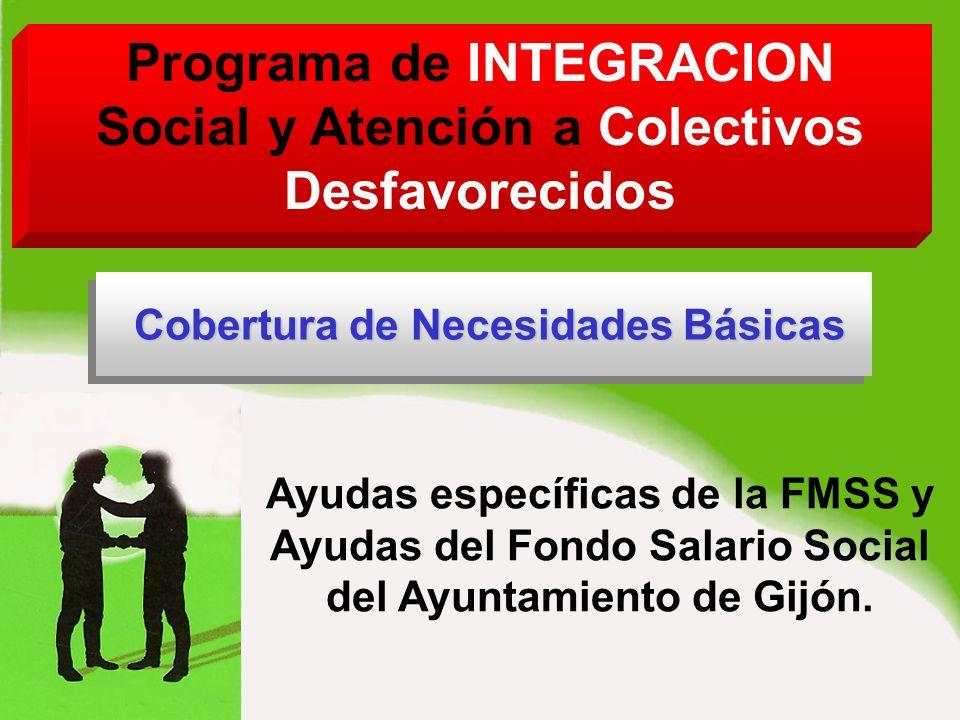Ayudas específicas de la FMSS y Ayudas del Fondo Salario Social del Ayuntamiento de Gijón.